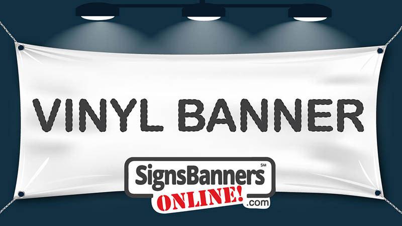 Blank vinyl banner