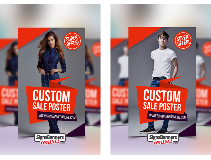 Taking fashion posters to a modern output, these two conceptual posters for the shop display window or chain give the retail visual manager a brief of how the store display will look in its surroundings.