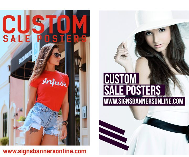 Custom Posters for Window Display MODELS wearing the latest fashion