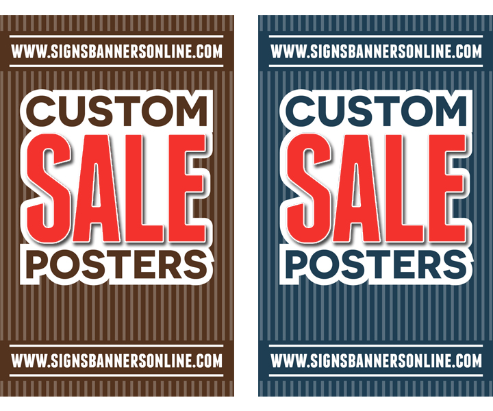 Custom Posters for Window Display, Large SALE
