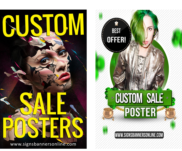 Custom Posters for Window Display Creative Works - United Kingdom