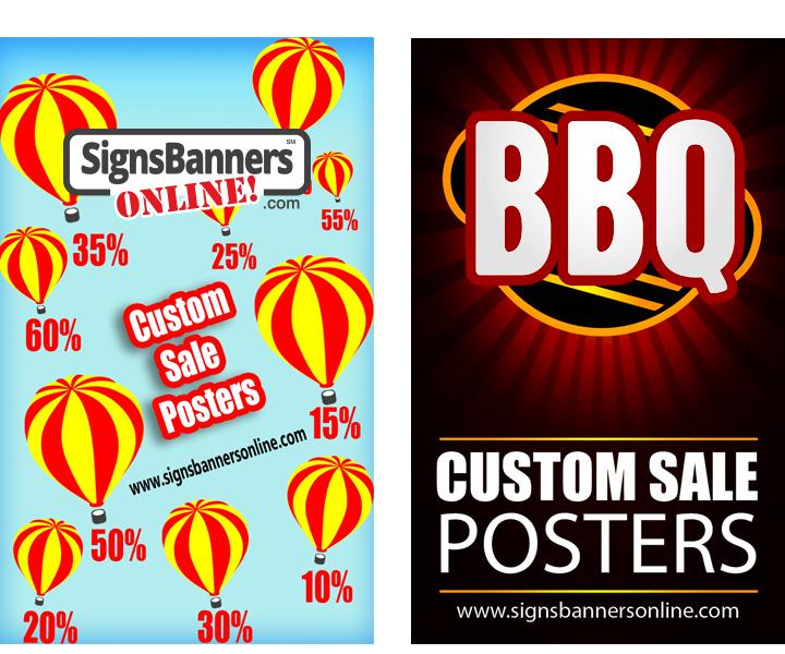 Custom Posters for Window Display