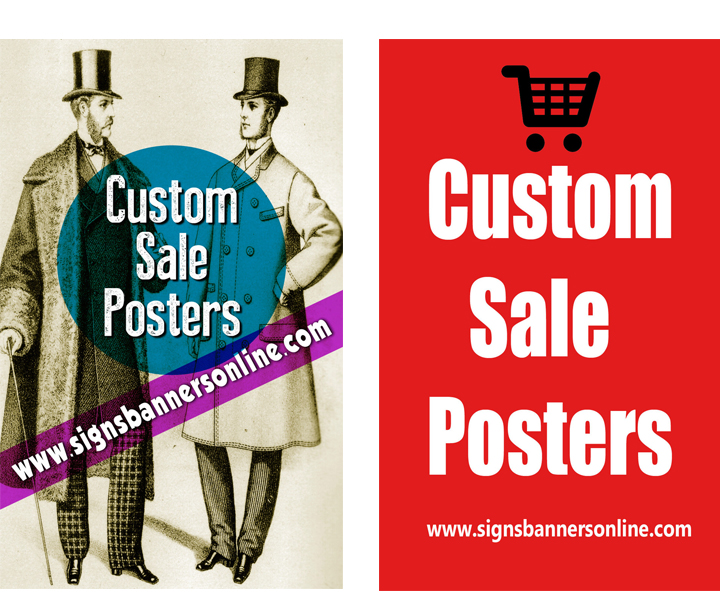 Custom Posters for Window Display. From old to new.
