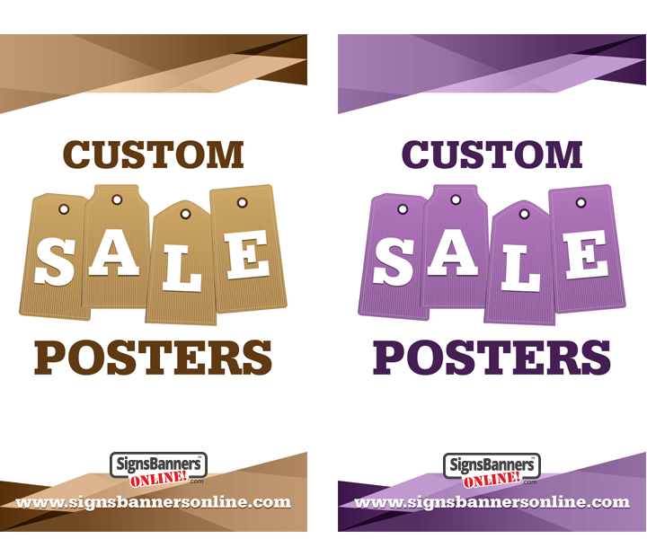 Color Sets of Posters for shop windows display and window dressing