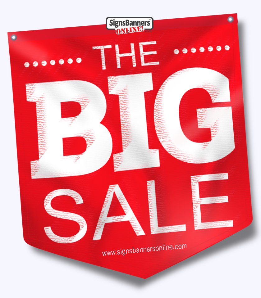 The BIG SALE hanging banner graphic