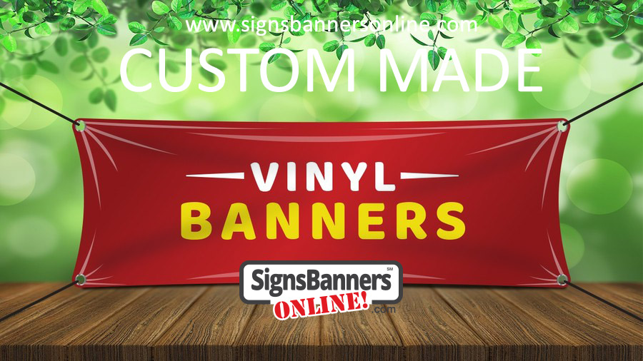 Illustration of outdoor banner sign
