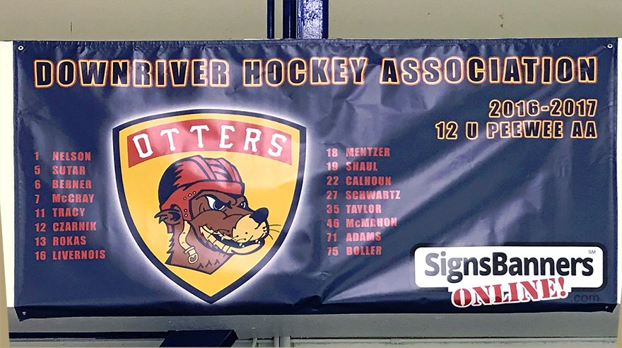 Downriver Otters MI USA Sponsorship banner - healthy children, healthy lives.