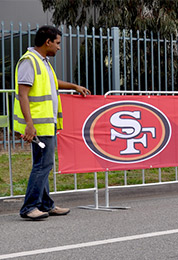 SF Portable Event Fence Covers (printed banner signs).