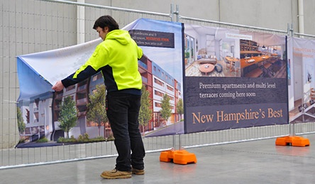 New Hampshire builder and contractor identification signage CUSTOM PRINTING NH.