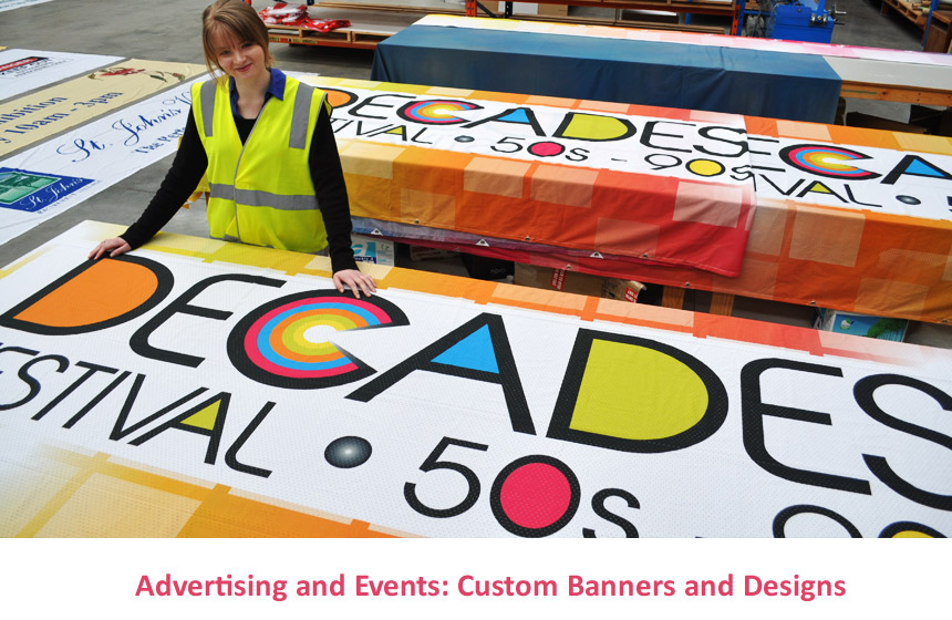 Advertising events signage