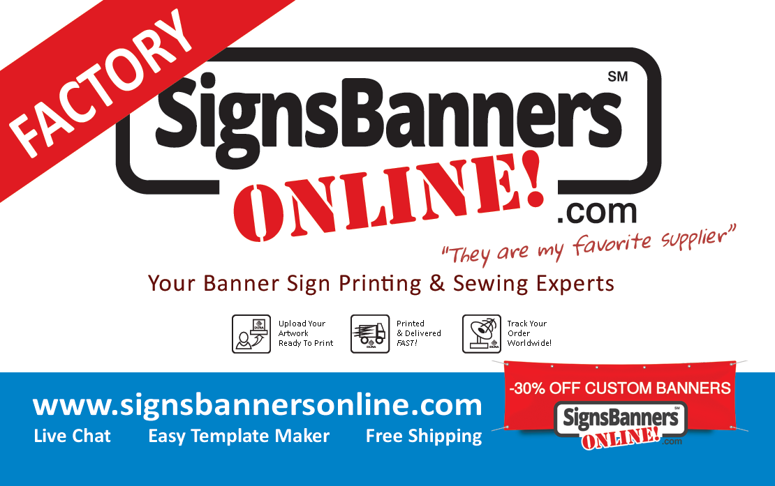 Banner Sign company business card