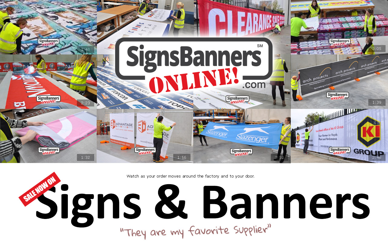 Producers of many kinds and sizes of custom banner signs