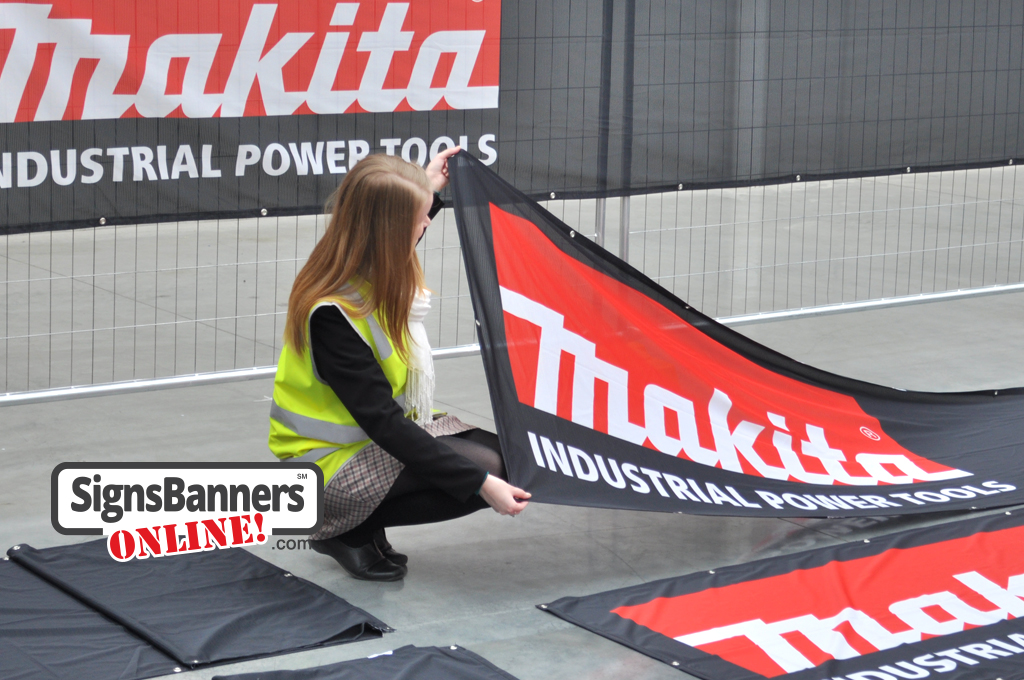 Factory banner signs made for Makita Industrial Power