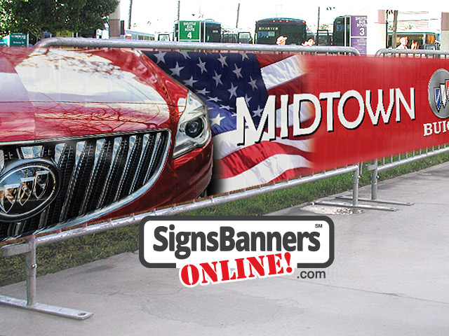 Midtown sponsor local communities showing the fence banner hire panels.