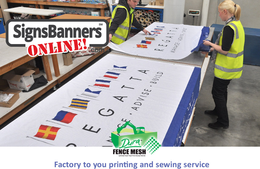 Signs Banners Online factory service means your creative ideas are printed on high quality sign making sources with custom options you select.
