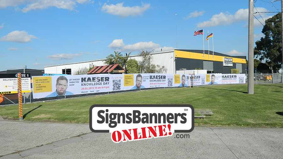Fence advertising banner made from reliable DuraFence print