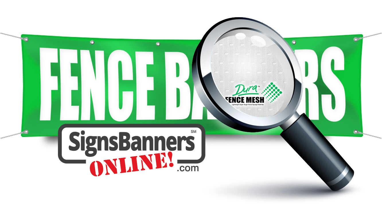 Looking closely at the Fence banners give you big banners and signs with huge graphics