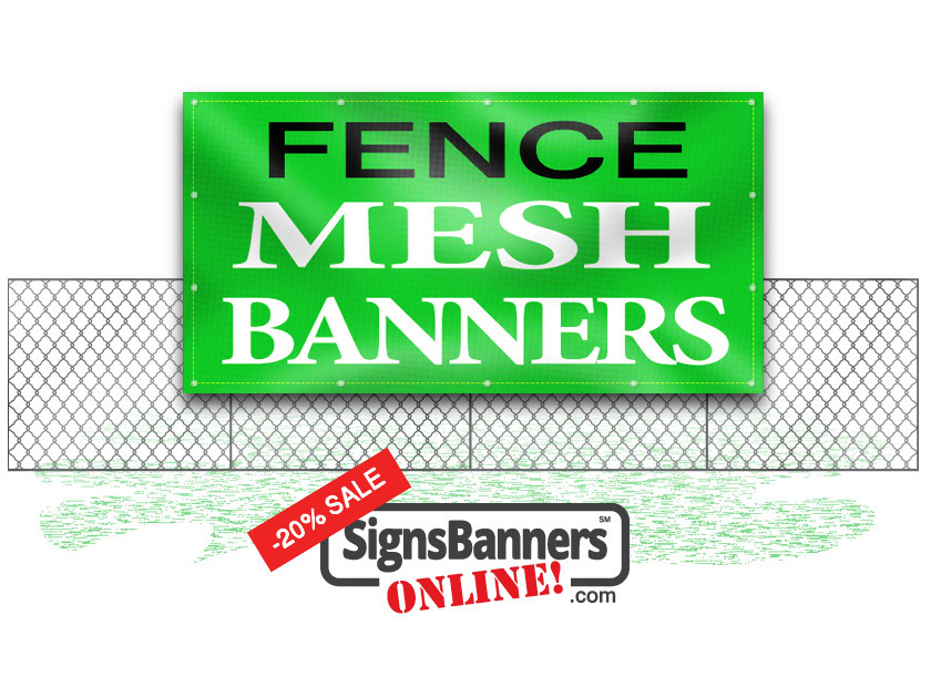 Custom sized fence mesh banners make a better choice around the perimeter of the fence as suitable advertising space