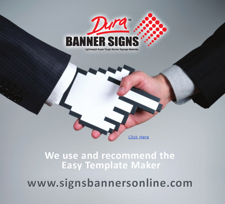 We use and recommend the Easy Template Maker for setting up all banner signage layouts.