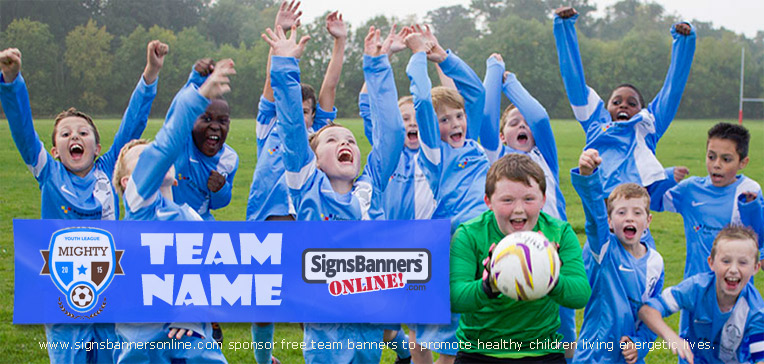 Signs Banners Online support junior sport with team banner
