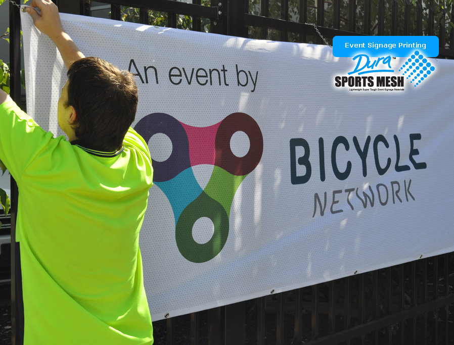 Large major events such as banner covers cycling are catered for.