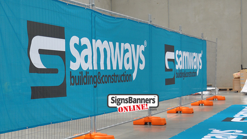 Signs Banners Online Supplies DuraFence Mesh Among Other Materials Which Is Ideal for Temporary Fences