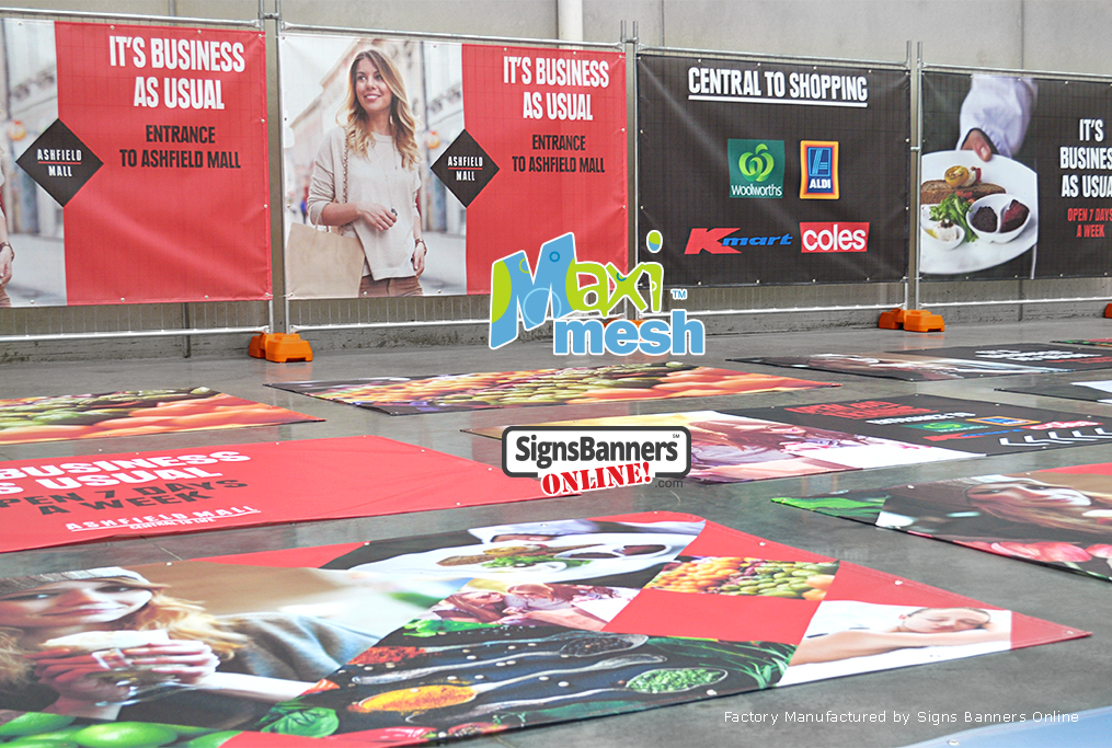 Mesh Banners with printed graphics