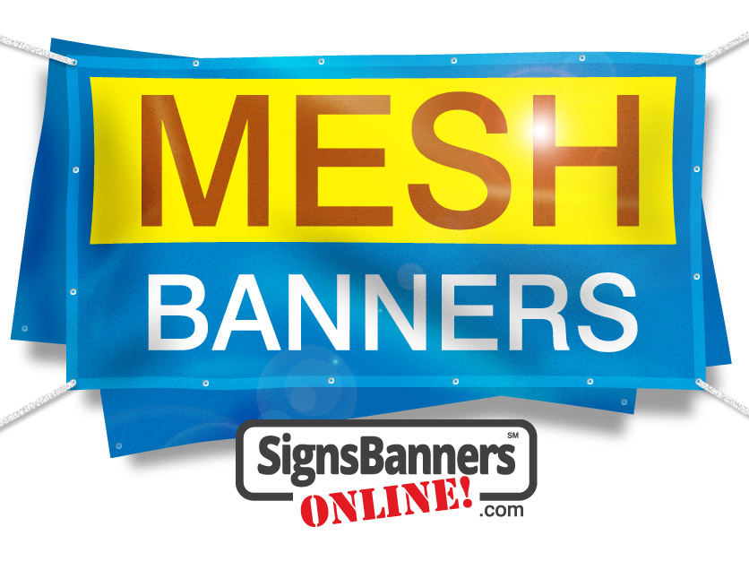 Custom size and creative printed Mesh Banners with logo
