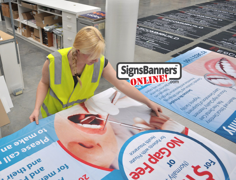 Supplying and making banner signs using the modern on-line system for design firms