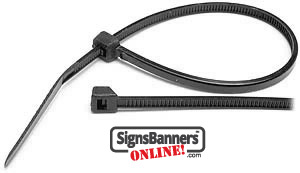 Plastic zip ties sometimes referred to as cable ties and cuff straps