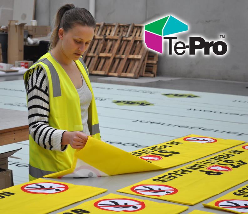 Factory Made Custom Banner Sign Printing with pole pockets for your booms.