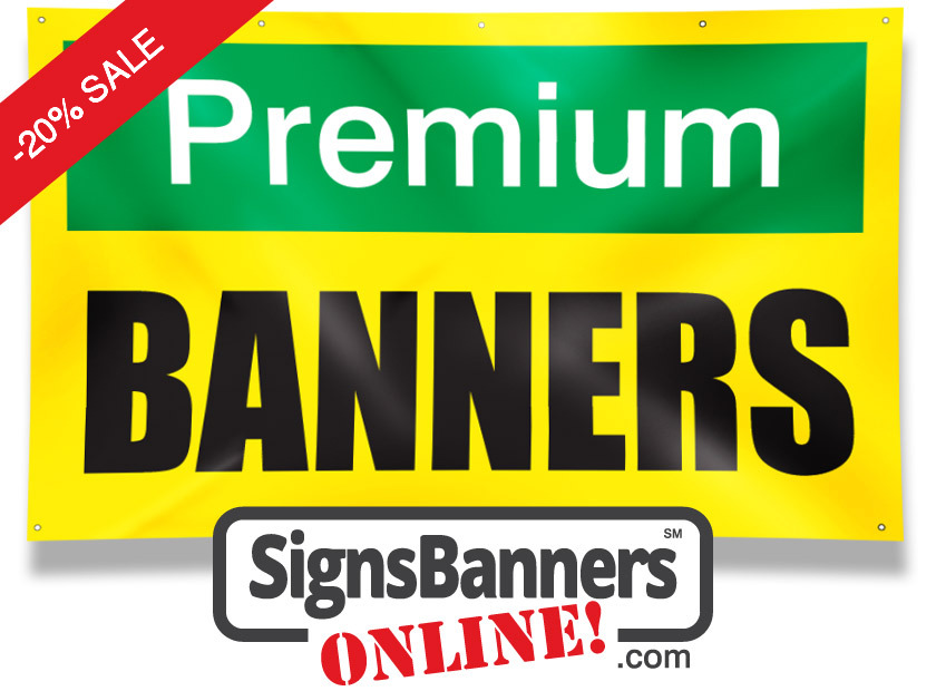 Signs banners online premium banners New York US are now available direct for companies and advertising agents