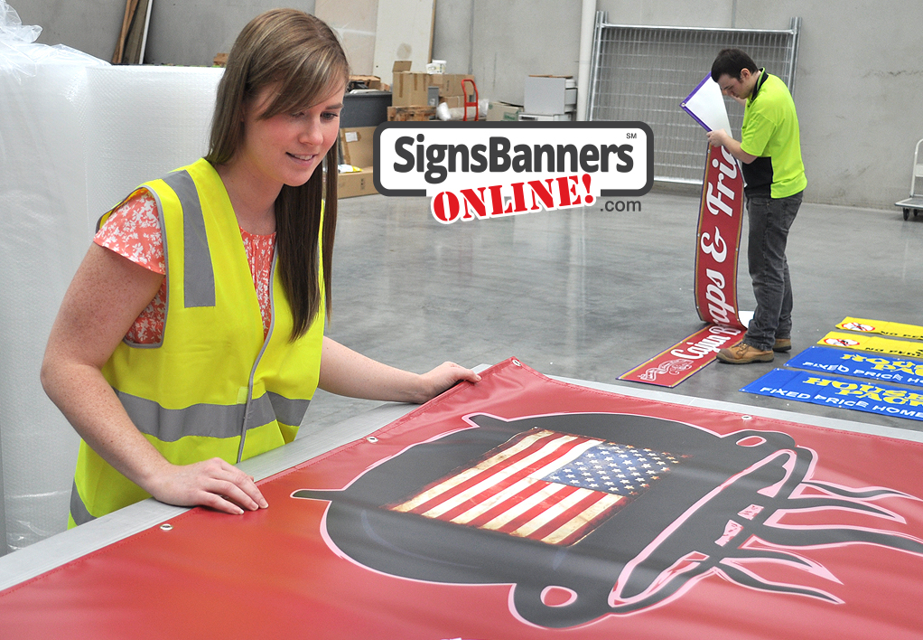 Custom made USA designs and gen purposing for all customers is available when you use S B O as your banner sign supplier.