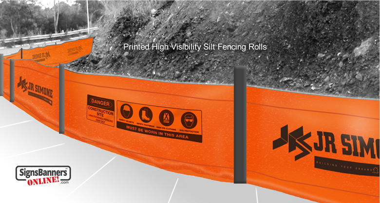 Printed High Visibility Silt Fencing