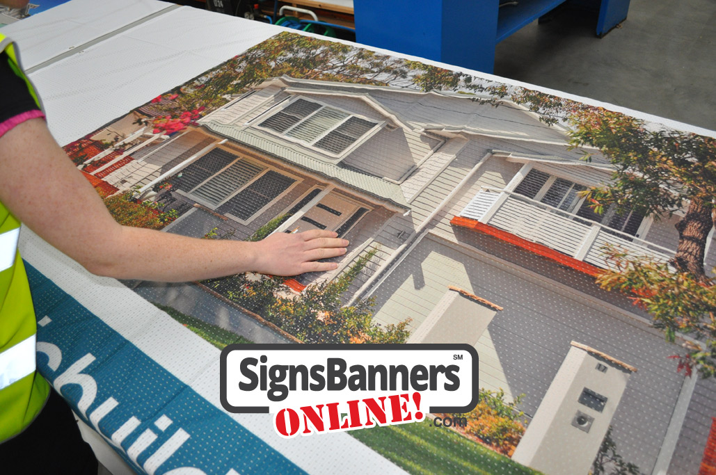 Real Estate proposals and illustrated drawings come alive when printed on a banner sign for buyers and sellers in the real estate business. This house is illustrated and printed on the banner sign material.
