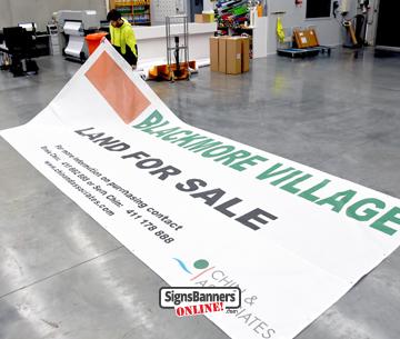 Land For Sale (banner sign)
