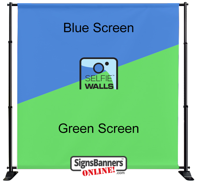 Printing Selfie Walls Green Screen / Blue Screen