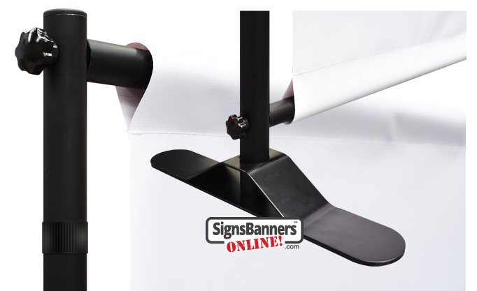 Isolated components of the Selfie Wall system by signsbannersonline.com