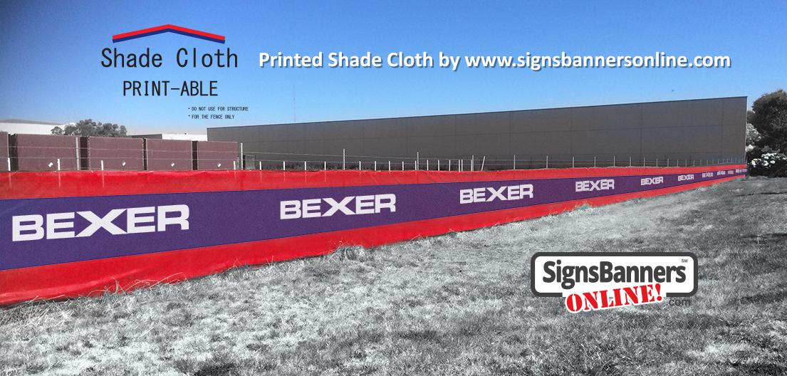 Printed shade cloth