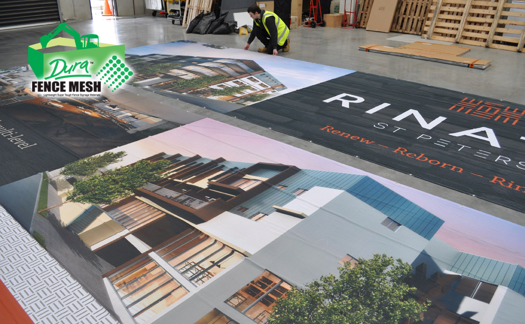 A wonderful showcase of the properties and qualities of the fence mesh range and it's printing banner capabilities.