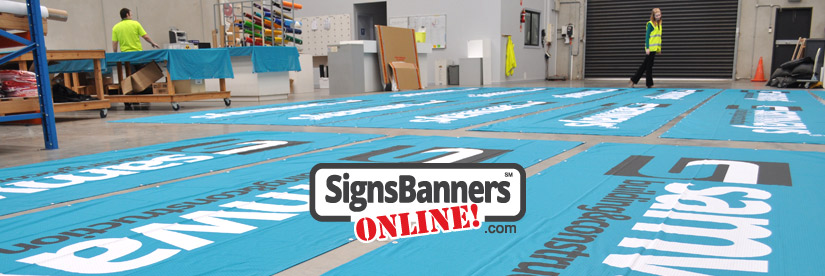 Customers can order signs online from the sign factory.