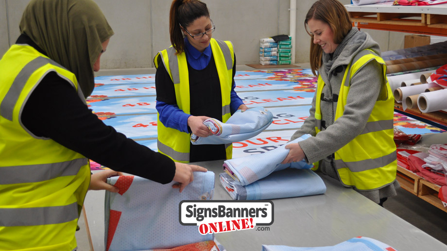 SBO are backed by real people making your custom signs and banners in the factory