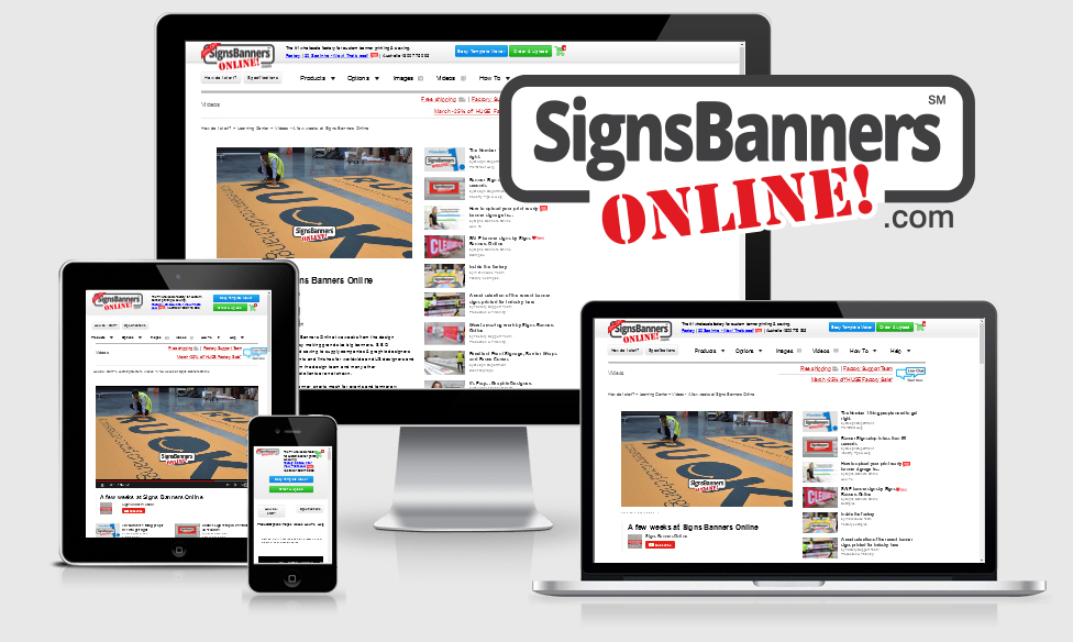 Signs Banners Online are now the number #1 website for uploading, designing and manufacturing sign printing for resellers