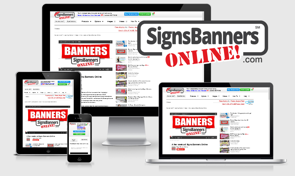 Portable devices  can also be used with signs banners online and other systems