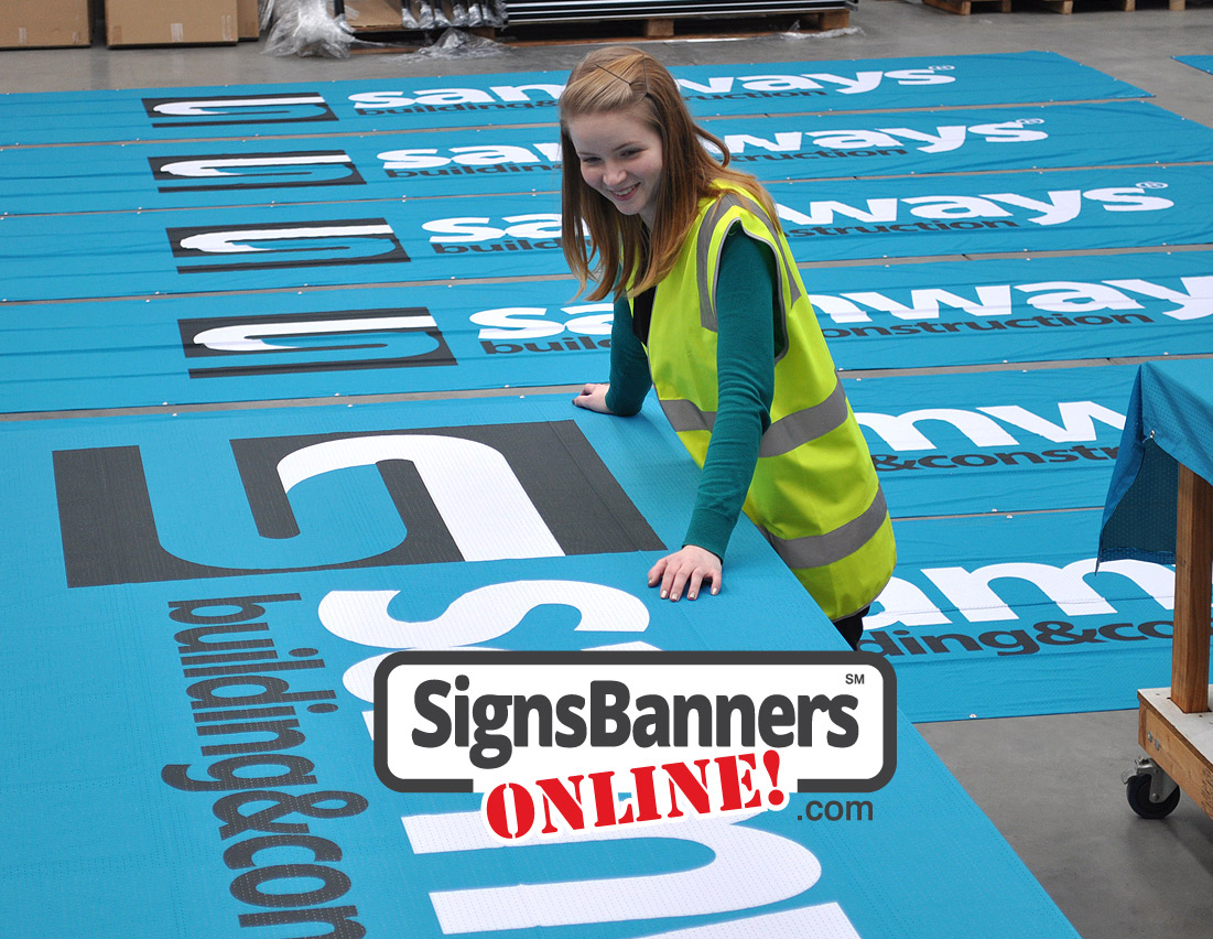 Signs Banners Online business makes printed banner signs shipped from the factory to the customer.