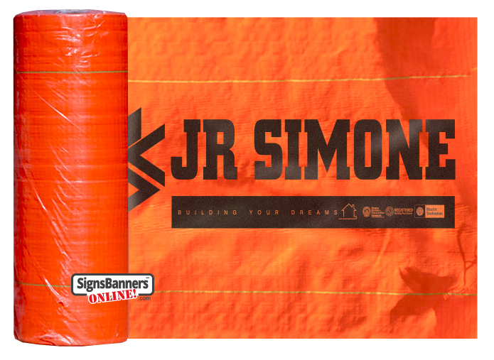 Printed Silt Fence Roll HI VIS ORANGE
