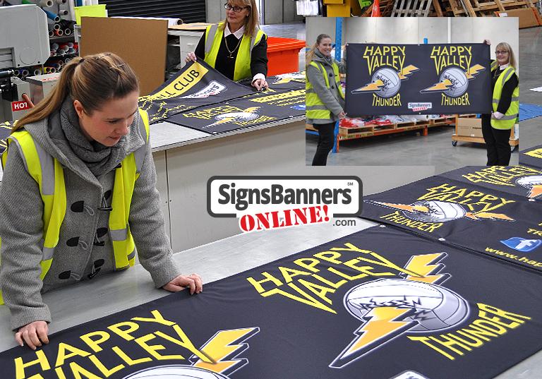 Sport sponsorship banners THUNDER