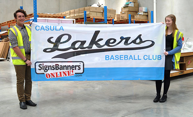 Free printed team banners for junior sporting clubs and teams. Add your club name.