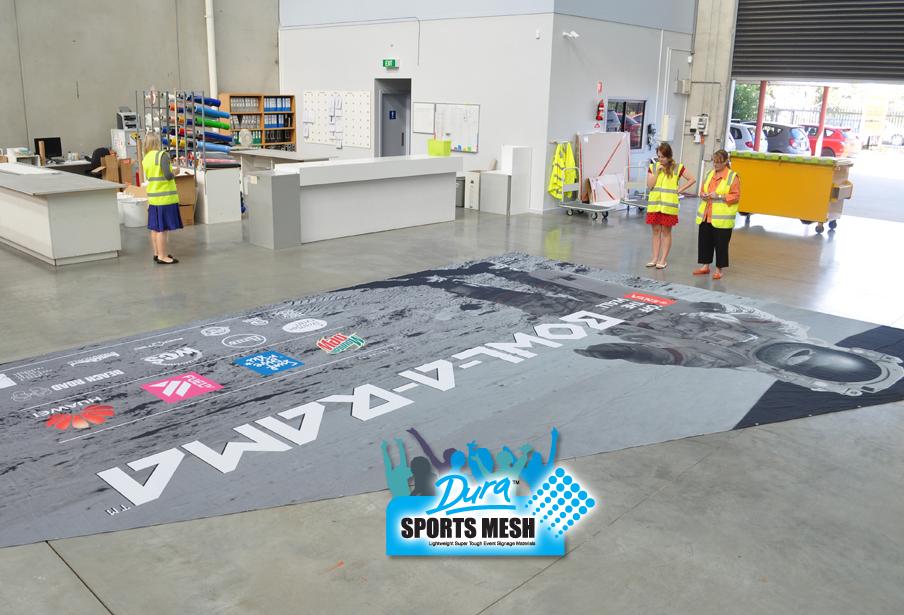 School, Sports Stadium and grandstand hire bleacher banner signage.