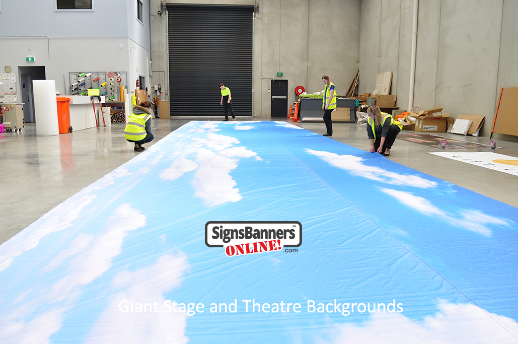 Giant Stage and Theatre Backgrounds (Banner Prints) are more creative and helpful for your community or company